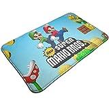 マリオ Mario 5 屋内屋外ドアマットラグフロアマット滑り止め寝室用バスルームリビングルームキッチン23.6×15.7チ家の装飾
