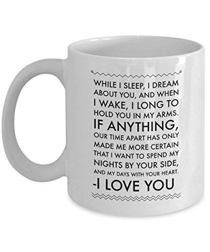 LDR Mug - I love You Mug - For Him and For Her, Long Distance Relationship Birthday Lovers Penpal Romantic valentines Boyfriend Girlfriend GF BF Mug Gifts Idea