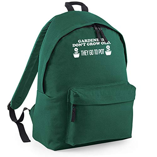 Gardeners Don't Grow Old They Go to Pot Funny Backpack Rucksack Dimensions: 31 x 42 x 21 cm Capacity: 18 litres Ruck Sack -Forest