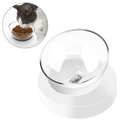 FancyWhoop Gatto Ciotola con Supporto Staccabile Inclinazione Regolabile 0-20 °Ciotole per Gatti Animale Domestico Ciotola di Cibo per Gatti e Cani di Piccola Taglia