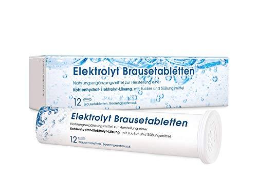 MEDICOM Elektrolyt Brausetabletten mit Natrium & Kalium • Vegan • Elektrolyt Getränk mit Beerengeschmack für die Flüssigkeitszufuhr • 2 x 12 Stk.