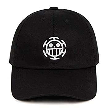 KDAND Trafalgar Law Cap One Piece Baseball Cap Anime Hat for Man 100% Cotton Embroidered Cap
