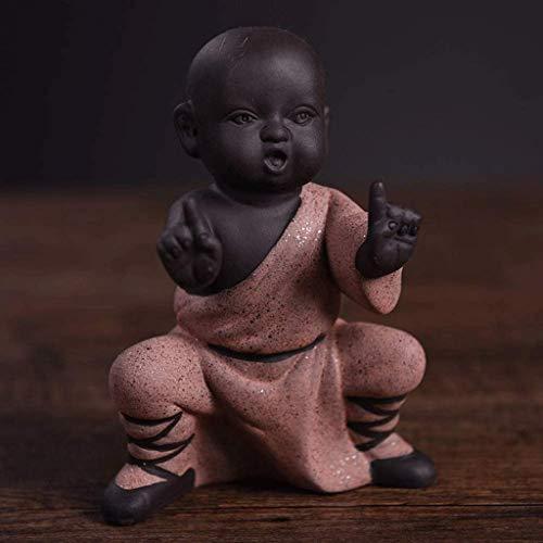 Zixin Chinese Kung Fu Mönche Figurine Home Decor, Keramik Statuen Ornamente Wohnzimmer-Dekoration, dekorative Accessoires (Farbe: D) (Color : D)