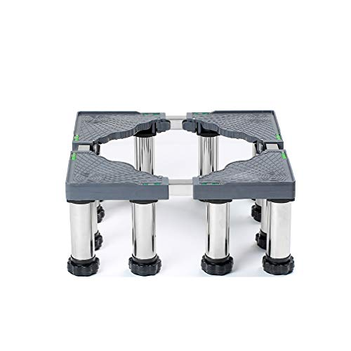 Washing Machine Stand Base Adjustable Refrigerator Pedestal Roller Base Tray 19-22cm Heightening Stainless Steel Laundry Washer Bracket for Furniture Cookers Dishwasher (4/8/12 Legs)