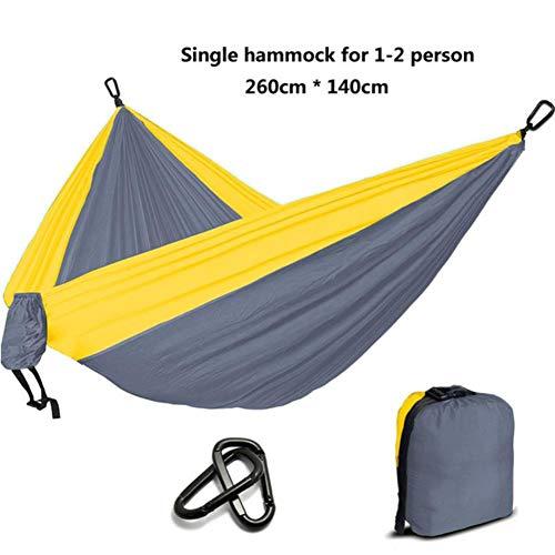 UKKD Hamac Camping Hamac Parachute Survie Jardin Meubles De Jardin Loisirs Dormir Hamaca Voyage Hamac,Jaune Et Orange