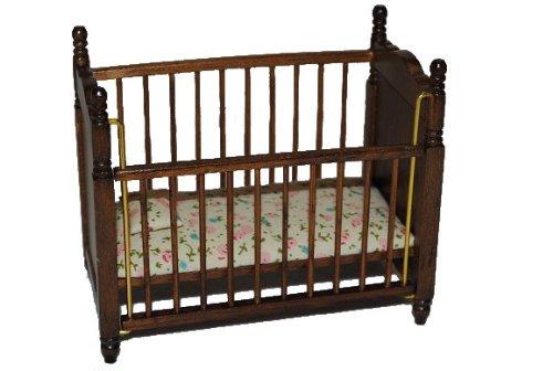 alles-meine.de GmbH Kinderbett / Bett - Babybett - Baby Kinder aus Holz Puppenbett Puppe Miniatur - Puppenstube - Maßstab 1:12 - Kinderzimmer Kindermöbel Geburt Baby - Kinderzimm..