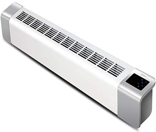 NFJ Keramik-Heizlüfter, Windauslass Elektrische Fußleiste Heizung Einstellbare Temperatur/Thermostat Sockelheizung LED-Anzeige Kipp- Und Überhitzungsschutz