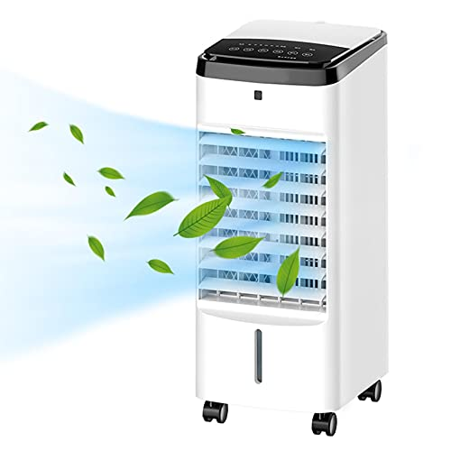Portátil Evaporativo Enfriador De Aire 3-En-1 Refrigeración Por Aire Humidificador De Ventilador De 220V 65W Con Caja De Hielo De Control De Pantalla LED Para Dormitorios Enteriore-Control remoto Un