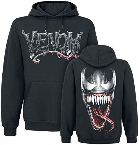 Venom (Marvel) Furious Face Sudadera con Capucha Negro L