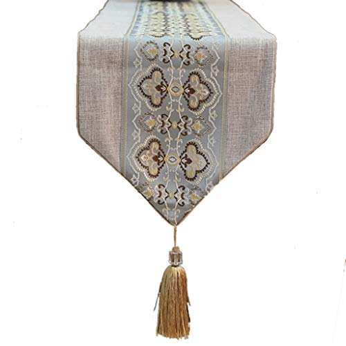 Tafelloper tafel Vlag, Chinese Zen thee tafelkleed thee tafelkleed Linnen 13 * 59 Inches Tafelkleed-4.9 (Size : 33 * 200cm)