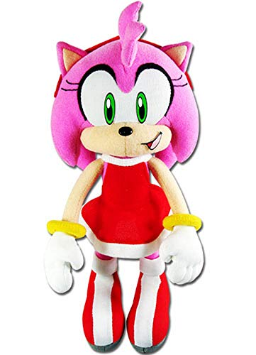 GE Animation GE-52635 Sonic The Hedgehog 9' Amy Rose in Red Dress Stuffed Plush