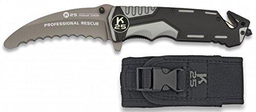 K25 Rettungsmesser grau/schwarz 9.5 cm