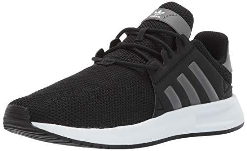 adidas Originals Unisex-Kid's X_PLR EL Running Shoe, Black/Grey/White, 5.5 M US Big Kid