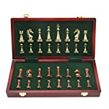 Love lamp El Cobre Metal Grande Deluxe Ajedrez Retro plateó el Juego de ajedrez for Adultos Juego de Mesa portátil de Almacenamiento de Madera Caja Plegable Juego de ajedrez