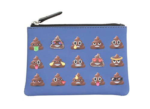 Mala Leather Applique and Printed Leather Coin Purse 4115_11 Poo Emoji