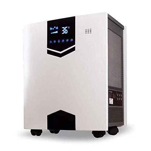 Pkfinrd Purificador de aire portátil HEPA, filtro de carbón activo, filtro de aire inteligente con indicador de cambio de filtro, filtrado Quiet Home Office Air para alergias, olores, humo