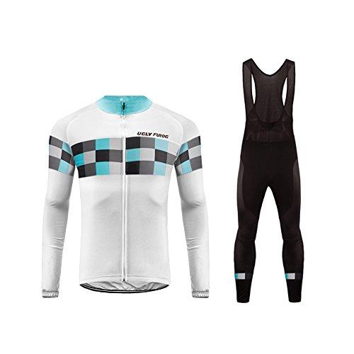 UGLY FROG Maillot de Ciclismo Ropa Ciclismo Conjunto para Hombre Culotte Manga Larga+Bib Pantalones Transpirable Cómodo Designs Grandes Regalos