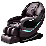 Massage Chair, Electric Full Body Zero Gravity Shiatsu Massage Chair Recliner with Heating Back, Bluetooth,Foot Roller and Air Massage System for Home Office (Brown)