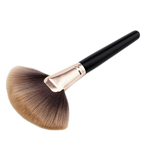 Fächerpinsel, Weiche und Professionelle Make-up Pinsel/Highlighter Pinsel/Foundation Concealer Brush/Rougepinsel/Puderpinsel