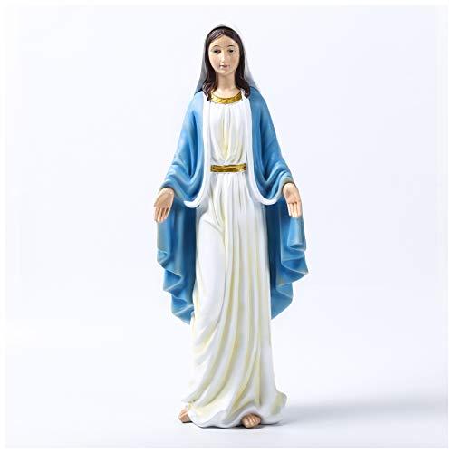 Maria Skulptur Deko Statue Groß 47cm Statuette der Madonna, Sculpture aus Harz - Heiligenfigur Mutter Gottes Figur Für Ornament Wohnzimmer Büro Dekor Desktop Geschenke,L