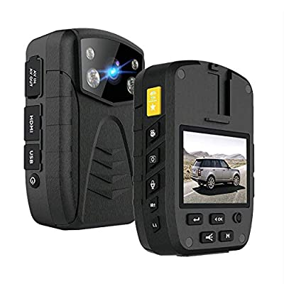 1296P HD Police Body Camera | New 2021 | 64GB Memory | Large 3500 mAh Battery | IP57 Waterproof | Shockproof | Sony IMX 323 Sensor | Night Vision | Law Enforcement | Security from HOLIDE ELECTRONIC CO