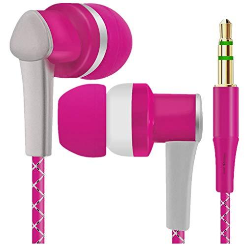 Dorical In Ear Kopfhörer, Headset Sport Ohrhörer Schweißresistent Stereo Eingebautes Mikrofon für iPhone, Huawei und Samsung Ohrhörer Headset Promo (One Size, Z004-Hot)