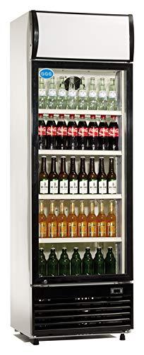 Flaschenkühlschrank mit Glastür 300 L Getränkekühlschrank Barkühlschrank