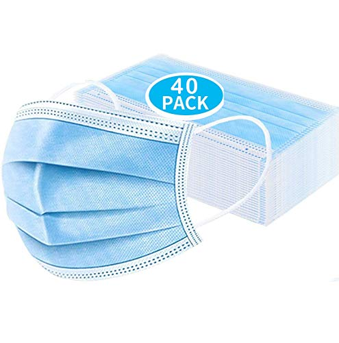 3 Layer Anti-Dust Cotton Mouth Cover for Women Men Teen (40pcs)