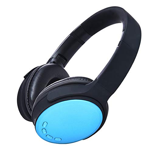 Wsaman Wireless Bluetooth Over Ear Headphones 10H Playtime, Stereo Foldable Bluetooth Earphones Headset with Deep Bass with Mic Noise Cancellation for Airpods/Android/Gaming/PC Earbuds,Blue