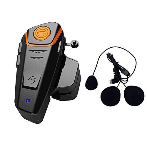 BT-S2 1000M Auricular Bluetooth Motocicleta Intercom Motorcycle Casco Intercom Interphone Auricular Bluetooth Ideal para Montar a Caballo/Esquiar(Cable Suave,1 Pieza)