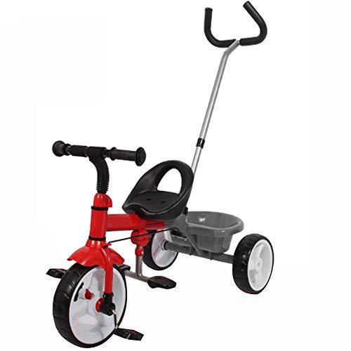 YUMEIGE driewieler kinderen driewieler 1-5Years oud verjaardagscadeau baby driewieler met duwstang last (lastgewicht 30kg)