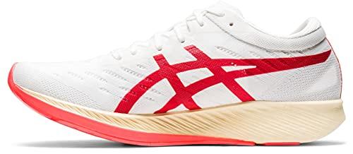 ASICS Metaracer 01 Chaussure de Course sur Route pour Femme Blanc Rouge 40.5 EU