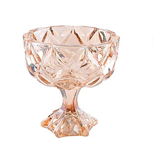 Goodvk Copa de Vino Tinto Copa Helado Taza Moda Taza Taza de Vino de Vino té Jugo de té Leche Taza de Agua Ensalada Platos fríos Taza Decoración Elegante (Color : Marrón, Size : 11.5x10.6cm)