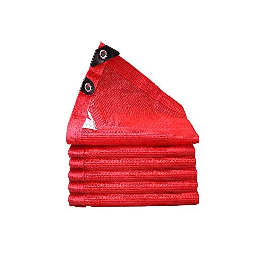 Red de sombreado Rojo Paño De Sombra con Ojales Jardín Flores Barn Terraza Prueba De Polvo Malla De Sombra 2x2m, 2x3m, 3x3m, 3x4m, 3x6m, 4x4m, 5x5m