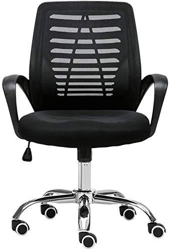 Fhw Inicio Silla del Escritorio de Oficina Silla de Malla Transpirable Altura Ajustable Teniendo Silla de la computadora Peso 120 kg Negro Sillas de oficina