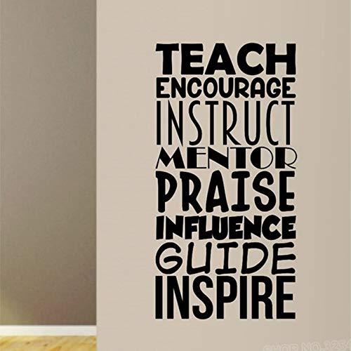 Unterricht Ermutigung Aufkleber Aufkleber Wandmaler Wohnkultur Lehrer Schule Klassenzimmer Bildung Smart Student Dekoration |Wandaufkleber33x57cm