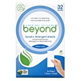Beyond Concentrated Laundry Detergent Sheets. Zero Plastic Waste (32 Loads) (Fresh Linen)