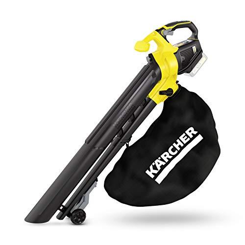 Kärcher 18V Akku-Laubbläser und -sauger BLV 18-200 (Leistung je Akkuladung: 425 qm, Geschwindigkeitsregulierung, Fanksackvolumen: 45 l, Luftgeschwindigkeit: 200 km/h, 3,5 kg Gewicht)