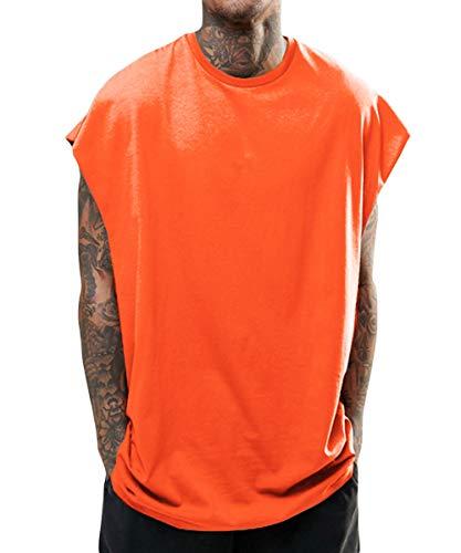WEEN CHARM タンクトップ メンズ tシャツ夏 トップス カットソー ノースリーブ ゆったり ビッグシルエット Vest 日常 スポーツ タンクトップ ブラック グレー