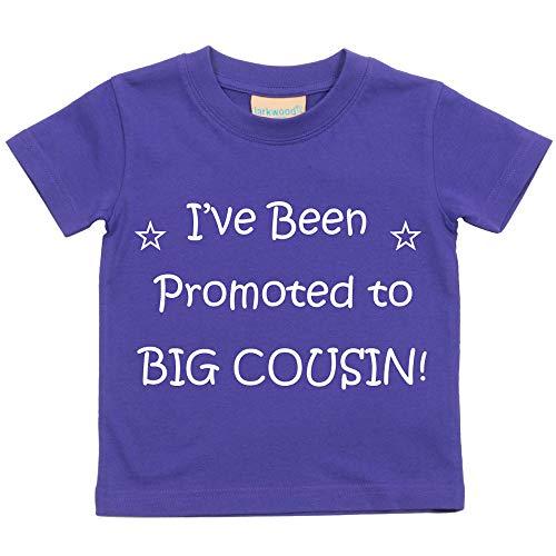 i'VE been Chauffage au Big Cousin Violet T-shirt bébé tout-petit enfants Disponible en tailles 0–6 mois pour 14–15 ans Nouveau bébé Cousin Cadeau violet violet 12-13 Years
