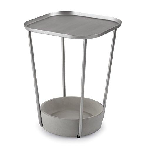 Umbra 320370-759 Tavalo Table d'Appoint Bois Noir/Nickel 51,46 x 38,38 x 38,25 cm