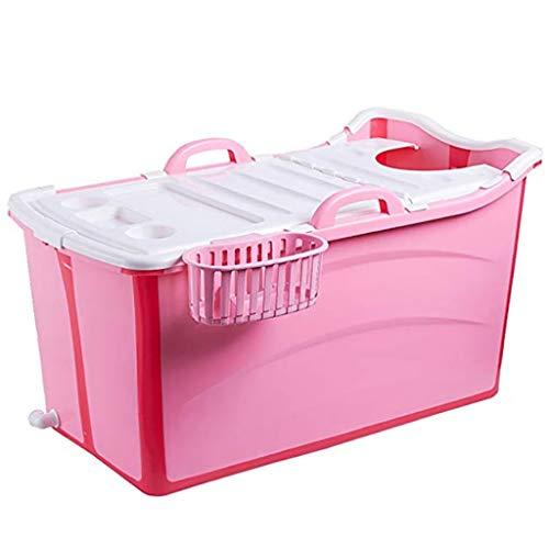 Faltbare Baby - Badewanne, Verlängerte Flexible Baby Badewanne Eimer Sitzt Baby Badewanne Kinder Bad Barrel Kind Bad Barrel Erwachsenen (farbe: Pink).