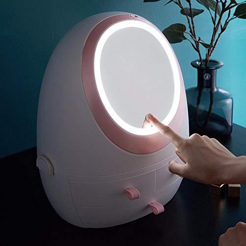 Cosmetica opbergdoos in de vorm van een lade voor sieraden met opbergruimte voor cosmetica met spiegel voor lichte make-up Upgrade-with Led Light