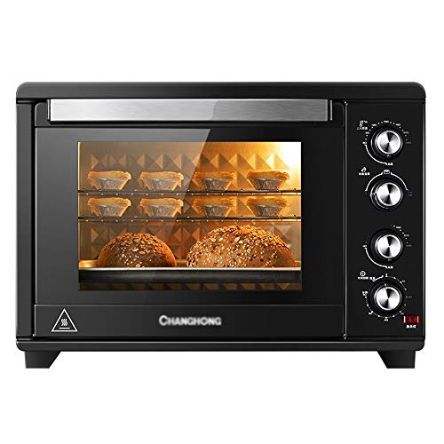 YLLYLL toaster oven Mini Oven 38L Household Multifunctional Baking 120 Minutes Timer 3D Curved Liner Independent Temperature Control Up and Down Cake Bread Pizza Tart halogen ovens