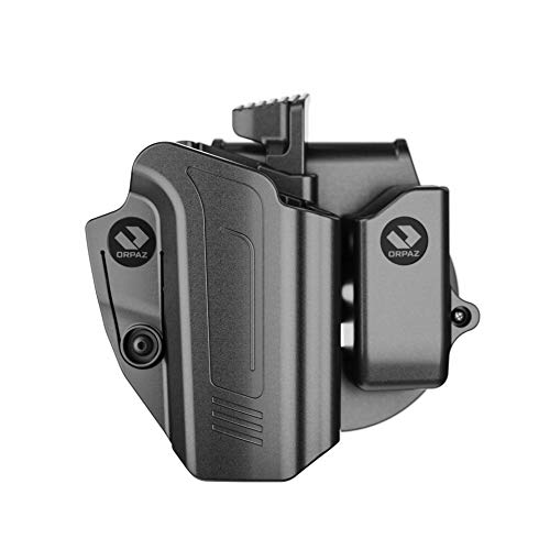 Orpaz CZ P10C Holster and CZ P10F Holster, Right-Hand Modular OWB Holster (Level II Retention, with CZ P10 Magazine Holder)