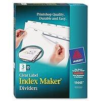( 3パック値バンドル) ave11445インデックスメーカークリアラベルディバイダー、3-tab、文字、ホワイト、25セット