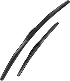 MIDOON Premium Quality All-Season Windshield Wiper Blades for lancia Ypsilon Fit Hook Arms Model Year from 2003 2004 2005 2006 2007 2008 2009 2010 2011 sizes:24