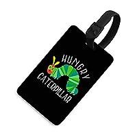 荷物タグ ネームタグ はらぺこあおむし バッグ用ネームタグ スーツケースタグ ラゲージタグ 出張用タグ 旅行タグトラベル用 紛失防止 名前ラベル 手荷物バック 旅行バック 名札 目印 黒と白のスリング