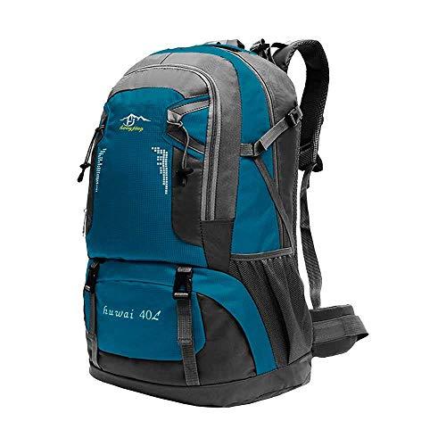 OcioDual Mochila Azul Claro 40 litros 40L Impermeable con Cierres Asas y Correas de Seguridad Senderismo Trekking Camping
