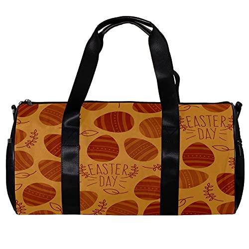 Borsone per le Donne Uomini Piatto Felice Uovo di Pasqua Sport Palestra Tote Bag Weekend Pernottamento Borsa Da Viaggio All'aperto Bagagli